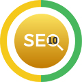 10 Keywords SEO Icon